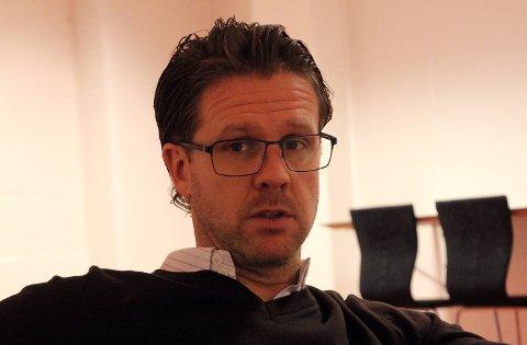 Rikard Norling var mandag tilbake på Stadion etter en bra og nødvendig juleferie. Her fra desember i 2013 kort tid etter ansettelsen.