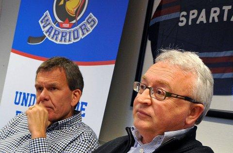 MINUSTALL: Sparta Sport AS gikk minus for andre året på rad. Det er Tore Jobs (t.v.) og Morten Carlsson misfornøyd med. (Foto: Jarl M. Andersen)