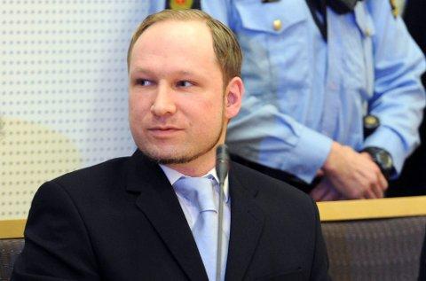 Anders Behring Breivik var i retten mandag.