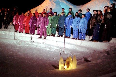 DØLENE: Det flotte koret var satt sammen med sangere fra arrangørkommune i Indre Troms.