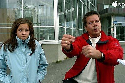 ? Jeg tenkte på 11. september og reagerte med urkraft. Jeg klemte til rundt halsen på øksemannen til han ble blå i ansiktet, forteller narvikmannen Trond Frantzen som havnet i flydramaet sammen med sin 15?årige datter Marlene. Foto: Ernst Furuhatt, Avisa Nordland