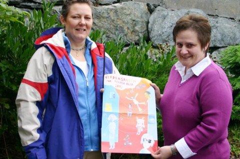 PSYKISK HELSE: Sjukepleiar Heidi A. Nygård og sosionom og fagleiar Ann Kristin Bråten i Bremanger har teke initiativ til lokal markering av Verdsdagen for psykisk helse den 10. oktober. (Foto: Annbjørg Hauge Nygård)
