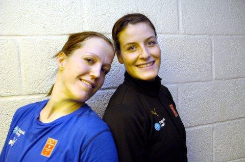 Måldronninger: Heidi Løke og Linn-Kristin Riegelhuth har dominert måltoppen i LHK de siste sesongene. (Arkivfoto)