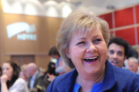 Høyre-leder Erna Solberg.