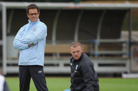 Fabio Capello var ikke veldig imponert over Wayne Rooney i EM.