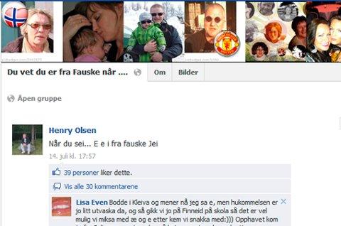 Facebook-siden om Fauske har svært mange medlemmer.