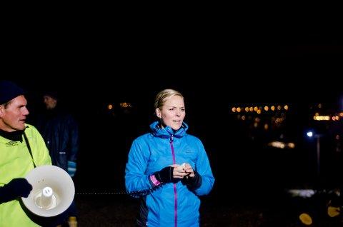 OPNA: Det er  Charlotte Nielsen og Knarvikmila som står bak den nyopna lysløypa.