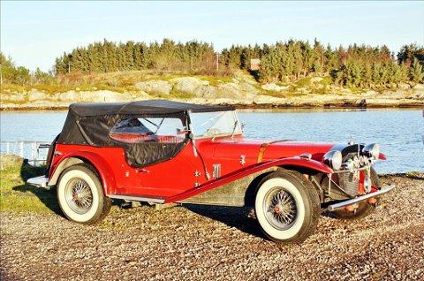 Kit car: Mercedes Benz Gazelle 1929 mod. Kit car er en sammensatt bil. Bilen har Volkswagen chassis og motor.