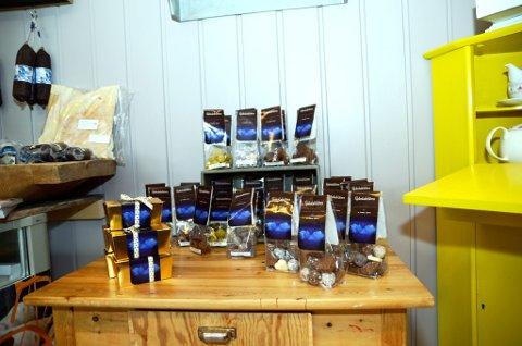 Produkt frå Sjokoladelåven i Sollia kling godt på Otta - byen ved Rondane...