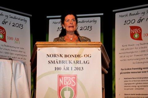 Mat og miljø er det viktigste valget, sa småbrukarleder Merete Furuberg i sin tale til landsmøtet på Lillehammer lørdag morgen.