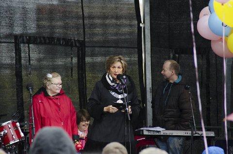 Trude Drevland deltok på lanseringsfesten.