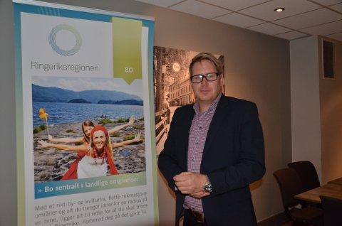 Jørgen Moe er daglig leder i Ringerike utvikling.
