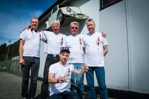 Kårer: Hot Shop-gutta Eivind Torp (56), Egil Sletner (59), Ivan Berg (68), Alf-Morten Nybakken (52) og Martin Winberg (24) skal dele ut pris for landets fineste VW.