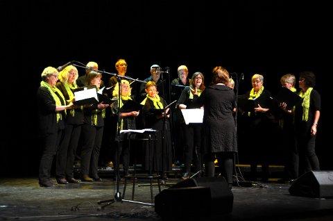 Gode: Prosjektkoret under ledelse av dirigent Elin Persson sang kjempebra. Flere av sangene var langt fra enkle arrangement, men det aller meste satt som et skudd!