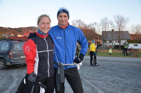 Avsluttet med stil: Mari Brox og Lasse Blom avsluttet sesongen med stil, og tok to rekorder hver. (Foto: Einar Lohne Bjøru).