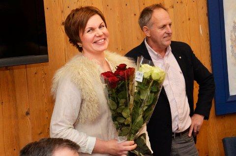 Tursuksess: Solveig Sæta og Trimgruppa ble også hedret med blomster torsdag kveld.
