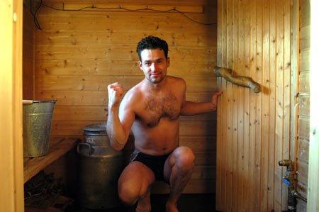 MESTEREN: Krister Finnestrand kom sist ut av saunaen under nordisk mesterskap.