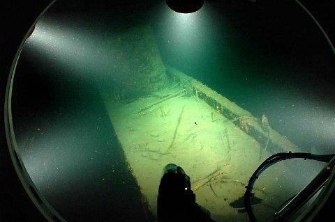 Nautilus slik den ligger på bunnen i dag.