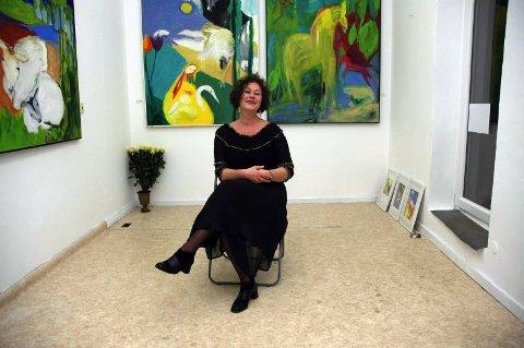 DIE NORWEGISCHE MALERIN:  Siri Bjerke stiller ut i Galerie Gardy Wiechern i Hamburg.