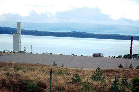 Statnett hår fått konsesjon av Norges vassdrags- og energidirektorat for å sette opp et mobilt gasskraftverk på denne tomta på Tjeldbergodden.