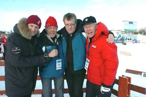 VEL BLÅST: FIS-delegat Vegard Ulvang (t.v.) og skipresident Sverre Seeberg var strålende fornøyd med verdenscuparrangementet som Asbjørn Windingstad og Erik Østli hadde ansvaret for på Beitostølen. FOTO: KNUT BEFRING