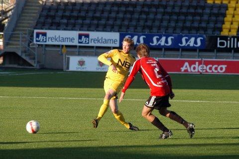 På tur.  Andreas Aakre er i Stavanger denne uka for å vise seg fram på treningene til Cato Hansen og Trond Schjølberg.Foto: Stian Høgland