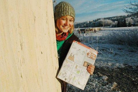 Ida Larmo fikk ei hel side i VG 24. desember. Hun tok tredjeplass i riksavisens store tegnekonkurranse. Ida har for øvrig gått på Einar Granums kunstskole sammen med vinneren Nils Axle Kanten i 2000.