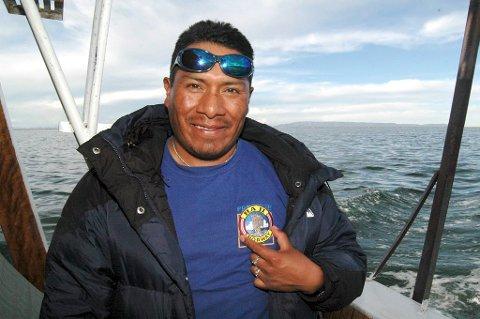 Titicacasjøen: Marco er aymara-indianer og kjenner til Thor Heyerdahl.
