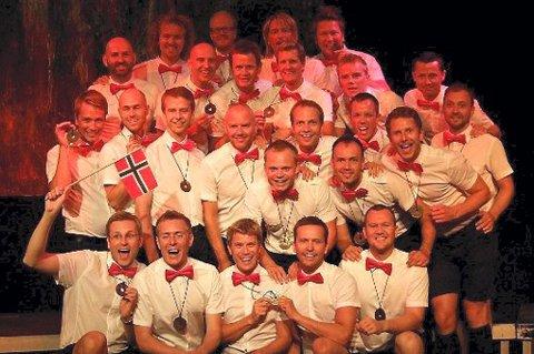 VERDENSMESTRE: Oslo Fagottkor vant konkurransen under World Outgames i København.