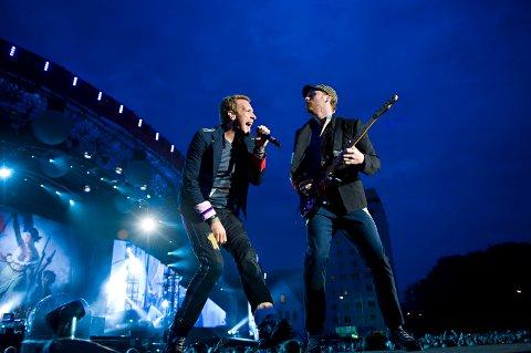 Coldplay på scenen på Koengen.