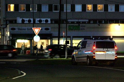 LIK HENDELSE: Her søker politiet i området rundt Metro i Lørenskog etter mulige gjerningspersoner etter at en 13 år gammel jente ble dratt inn i en mørk bli for kun to og en halv uke siden. FOTO: TOM GUSTAVSEN