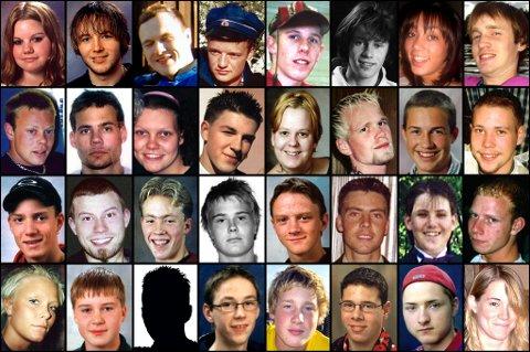 DØDE: Her er noen av de 42 ungdommene som siden 1999 har mistet livet på veiene på Romerike. I kartet nede i saken kan du se hvor ulykkene skjedde, og lese mer om de omkomne. ALLE FOTO: PRIVAT