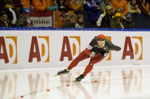 NM-SØLV: Espen Aarnes Hvammen tok sølv på 500 meter i NM enkeltdistanser lørdag.