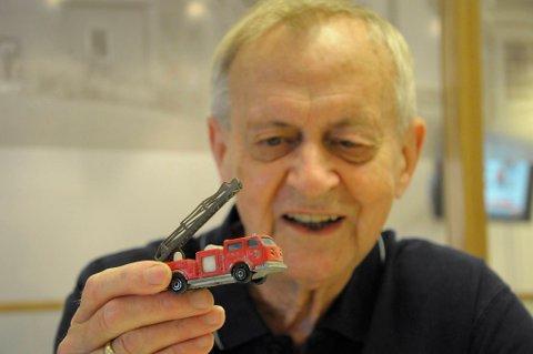 Fantastisk, sier Sivert Langholm, som gleder seg til å gi lekebilen tilbake til sitt nå 14 år gamle barnebarn Kristian i USA.