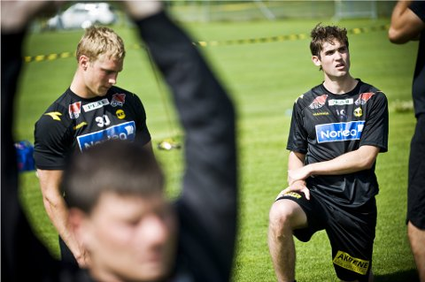 SPILLEKLARE: De tidligere Lyn-spillerne Mads Dahm (21) og Tom Sadeh (19) har skrevet kontrakt med Åråsen-klubben. FOTO: BENJAMIN WARD