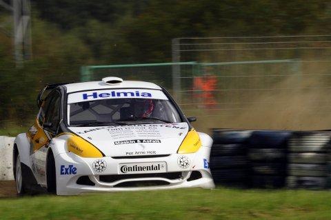 I FARTA: Gjennom helgen har Mats Lysen kjørt på høyde med de aller beste i europaeliten i rallycross. Han ble til slutt nummer fem i A-finalen.