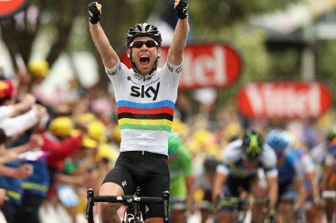 Mark Cavendish var ustoppelig i spurten på fredagens etappe.