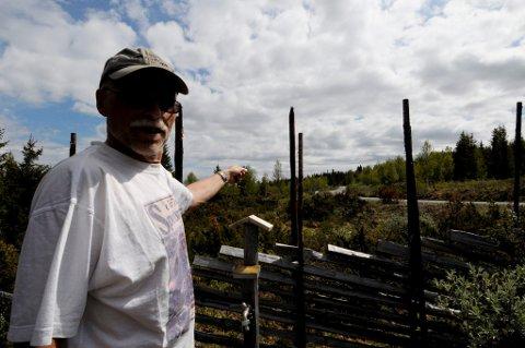 TILSKUER: Totningen Marlow Beck ble tilskuer til bjørnedramaet i øvre Svatsum.