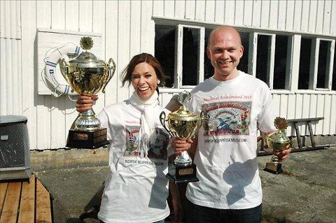 Lise Brændeland og Nordmørskafeens Roar Gimnes ble kåret til vinnere i konkurransen om byens beste bacalao.