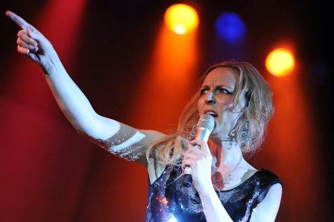 PÅ TV: Vigdis Wisur er med i TV-programmet «The Voice». Her fra et show på Quality hotell før jul.