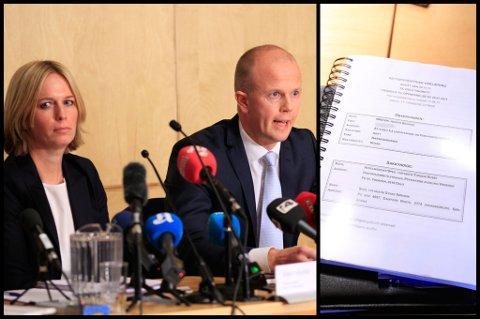 LA FRAM INNHOLDET: Statsadvokat Inga Bejer Engh og Svein Holden la fram deler av innholdet i erklæringen fra de to oppnevnte sakkyndige. FOTO: SCANPIX