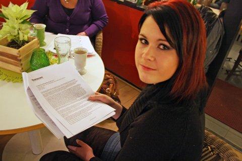 FIKK SPARKEN: Ailin Knudsen fra Sarpsborg syntes det var rart å gå fra utelukkende positive tilbakemeldinger til å få sparken.