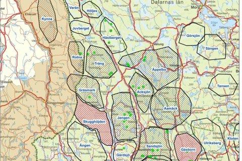 kart over varmland Glåmdalen   Ulven er overalt kart over varmland