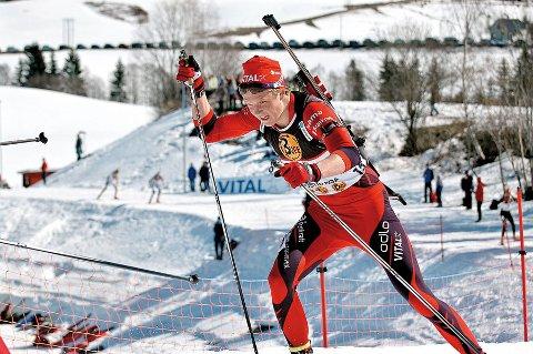 Glimrende skiskytter: Vetle Sjaastad Christiansen gikk helt til topps junior-EM. Bildet er tatt ved en tidligere anledning.