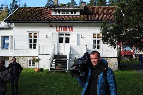 Hovedhuset på Utøya der Anders Behring Breivik ble forhørt av politiet etter ugjerningen.