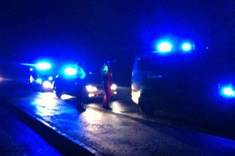 Mandag kveld ble det foretatt full utrykning etter at det kom melding om kraftig røykutvikling fra Renor. FOTO: LISBETH ANDRESEN