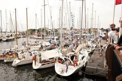 14 juli kaster drøyt hundre seilbåter loss i Nederland og setter kursen mot Stavern. - Det blir fargerikt spetakkel - på land, lover arrangørene. (Arkivfoto)