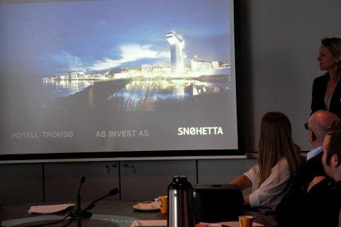 T-HOTELL: Slik blir T-hotellet som Snøhetta ser for seg i Tromsø.