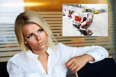 Helene Remen Ingebrigtsen ble fredag frikjent for bildrap på bestevenninna. - Jeg er lettet, sier hun. Det innfelte bildet er fra den skjebnesvangre ulykkesdagen for litt over et år siden.