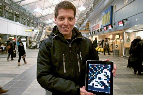 GRÜNDER: Håkon Bertheussen fra Tromsø blir oppfordret av nynorskmiljøet til å lage en sidemålsutgave av Wordfeud.